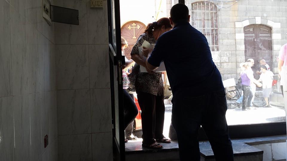 Hilfsaktion Damaskus, Syrien August 2014
