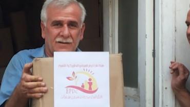 Lebensmittelpakete für 730 Familien aus Al Hassake, Syrien Jun. 2015