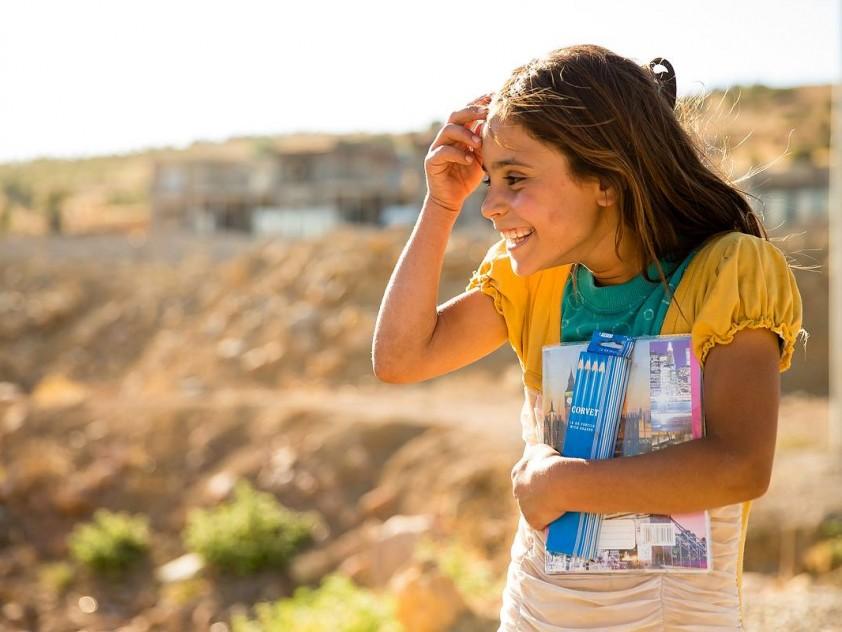 Hilfsprojekt für 2000 Kinder und Lebensmittelverteilungen, Nordirak Okt. 2015