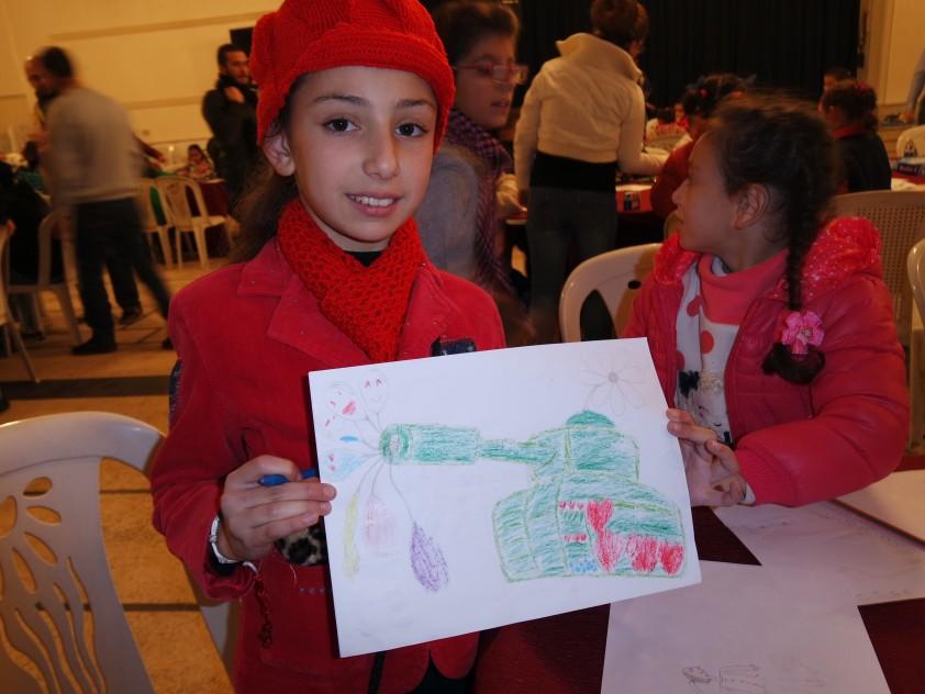 Humanitäre Hilfsprojekte in Syrien im November 2015