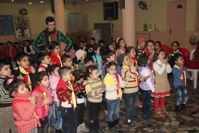 Soziales Hilfsprojekt für traumatisierte Kinder in Homs, Syrien JAN 2016