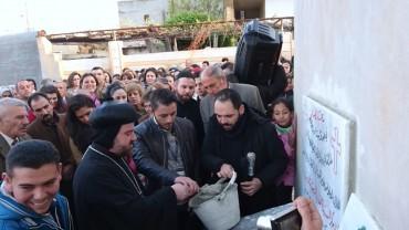 GRUNDSTEINLEGUNG für den Bau unserer ersten Schule in SYRIEN, März 2016