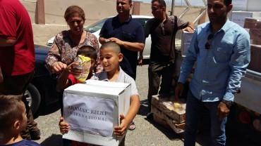 Lebensmittelverteilungen für intern vertriebene Familien im Nordirak, Juni 2016