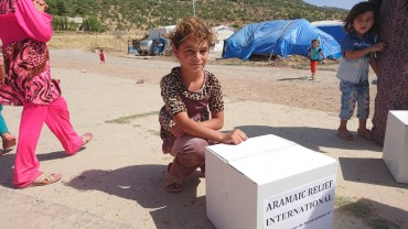 Lebensmittelverteilungen im Nordirak für 700 vertriebene Familien, August 2016