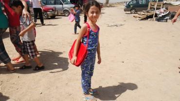Verteilung von Schulmaterial für 300 Kinder in Erbil-Nordirak, August 2016
