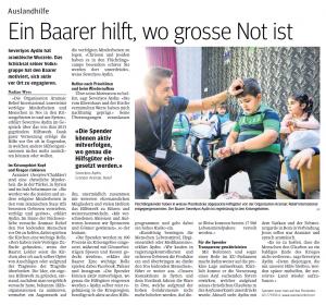 Zuger Presse, Zugerbieter 20.07.2016