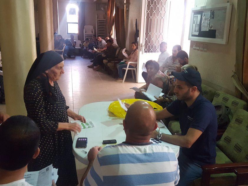 Lebensmittelgutscheine für Flüchtlingsfamilien in Amman, Jordanien, Okt 2016