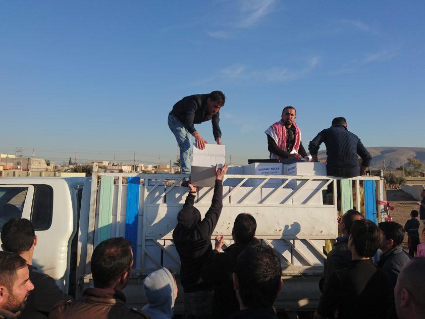 Winterhilfe für Binnenflüchtlinge im Nordirak Februar 2017