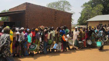 Hungersnot in Afrika, Verteilung von 17,5 Tonnen Lebensmitteln März 2017