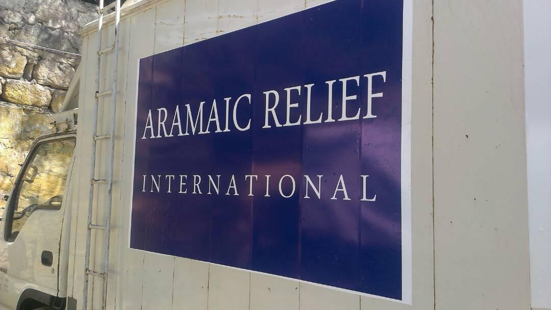 Wassertankwagen für hilfsbedürftige Menschen in Aleppo, Syrien