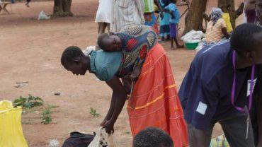 Verteilung von 9 Tonnen Lebensmitteln im Südsudan, Okt 2017