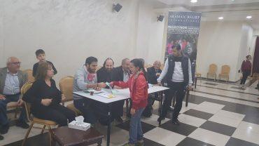 Lebensmittelgutscheine für Flüchtlinge in Amman, Jordanien, Dez 2017