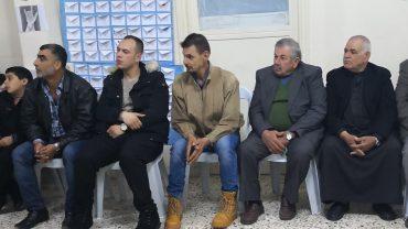 Verteilung von Decken und Kissen für taubstumme Menschen in Homs, Syrien