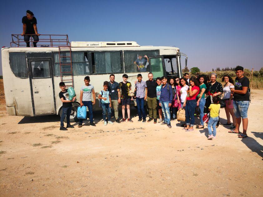 Tagesausflug für Waisenkinder in Homs, Syrien, August 2019