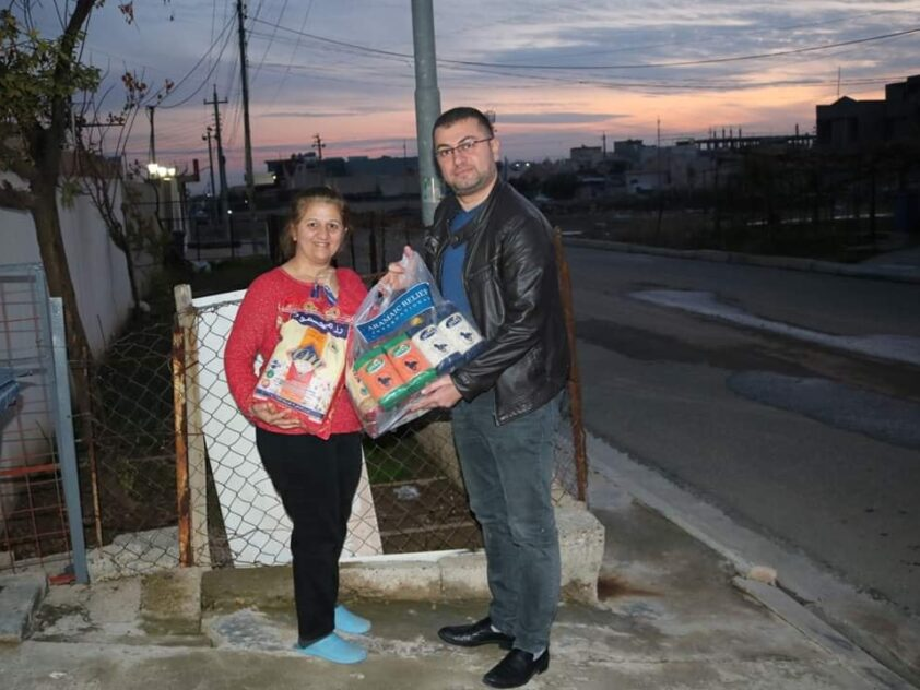 Lebensmittelverteilungen für binnenvertriebene Familien im Nordirak, Jan 2020