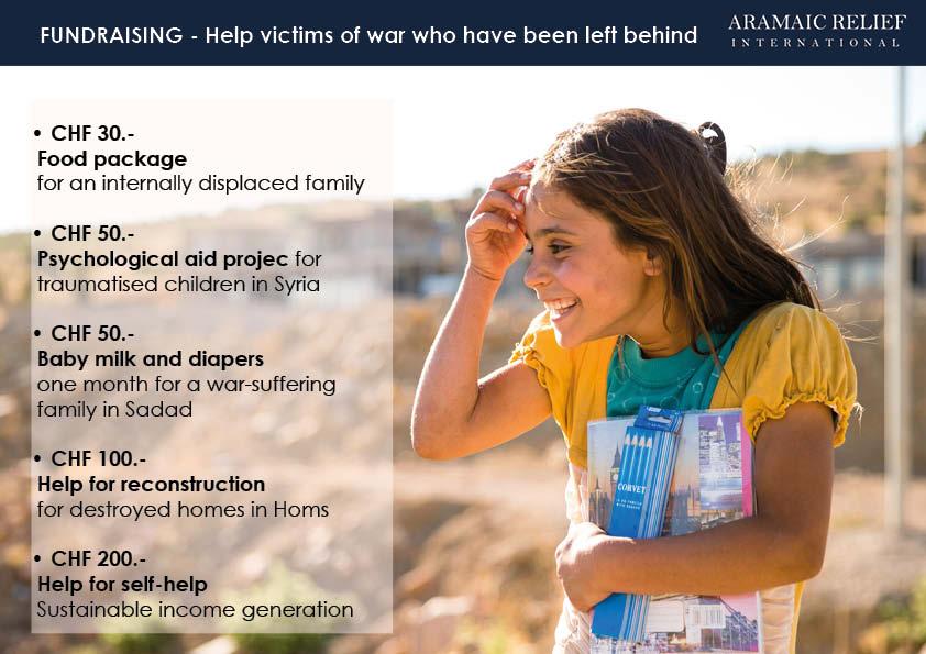 7 years foundraising aramaic relief international
